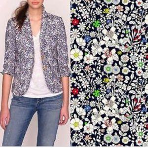 J CREW Schoolboy Liberty Floral Blazer Jacket